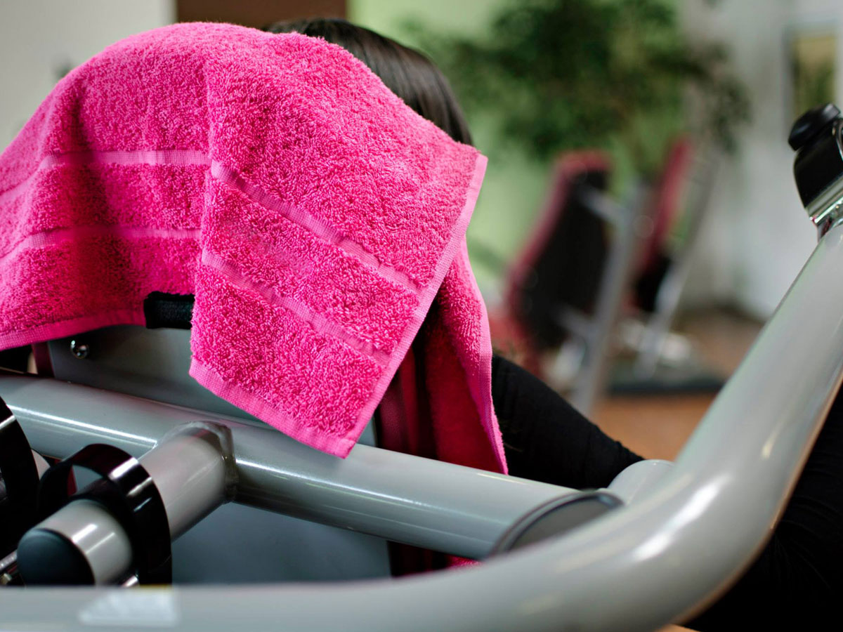 classygym magnetic towel pink